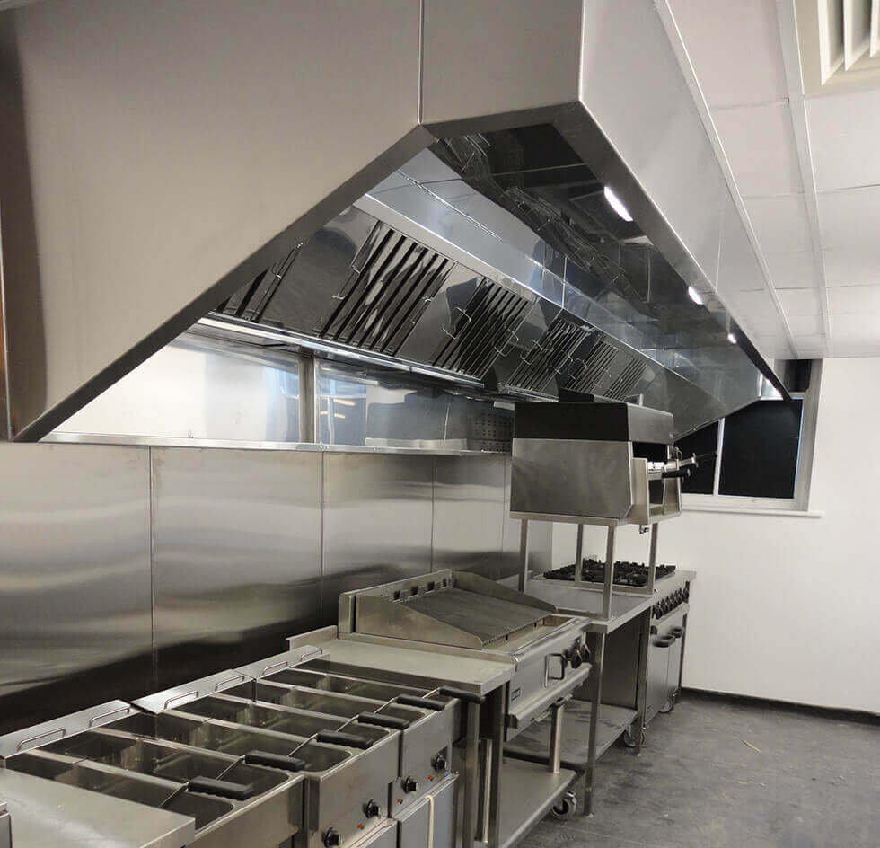Kitchen Canopy Extraction Hood Cj Dustraction Systems